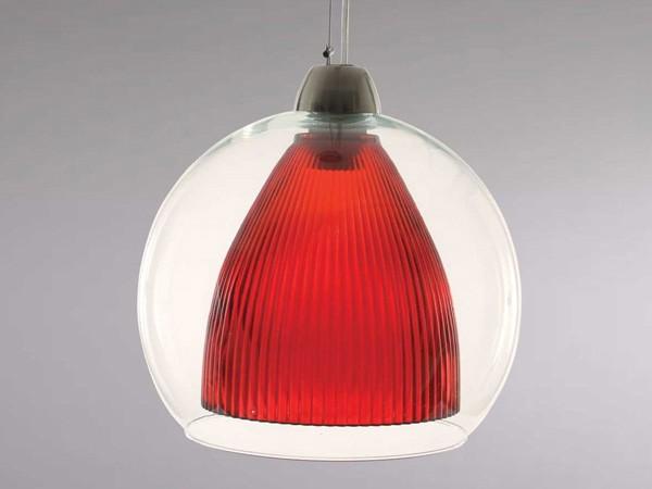Luminaire design pour cuisine suspension en verre sampa for Suspension rouge pour cuisine