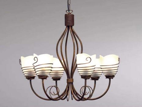 luminaire classique pour salle manger lustre rouille sampa. Black Bedroom Furniture Sets. Home Design Ideas
