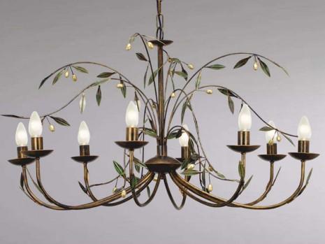 Luminaire florale pour sejour lustre olivier n 8 sampa for Lustre pour exterieur