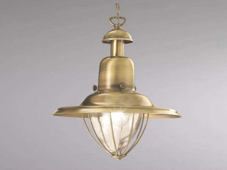 Luminaire classique pour sejour suspension brunie for Suspension pour sejour