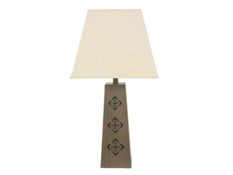 Lampe bois métal