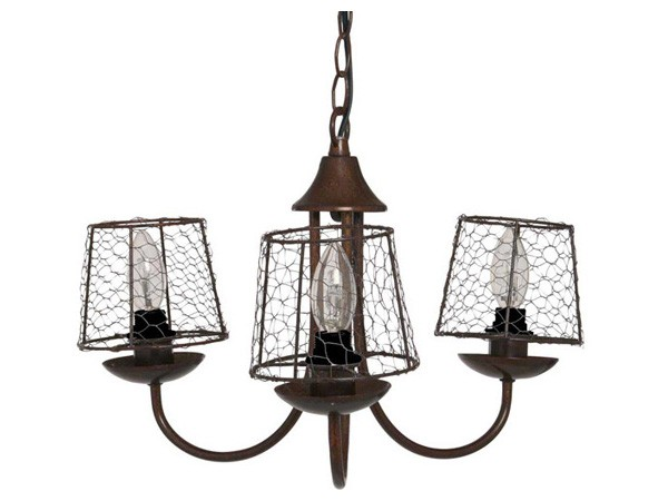 luminaire campagne pour salon lustre grillage sampa. Black Bedroom Furniture Sets. Home Design Ideas