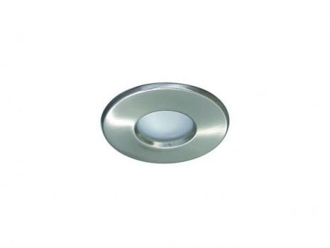 Spot aluminium brossé rond fixe