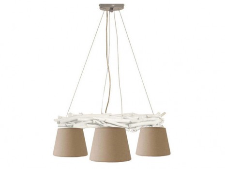 Luminaire montagne pour salon suspension branche sampa - Suspension pour salon ...