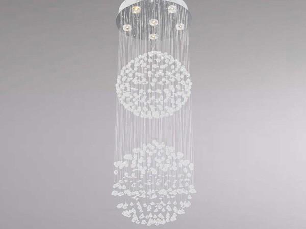 Luminaire design pour salon lustre double boule sampa for Lustre boule design